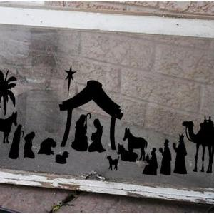 Christmas Nativity Vinyl Decal Larg..