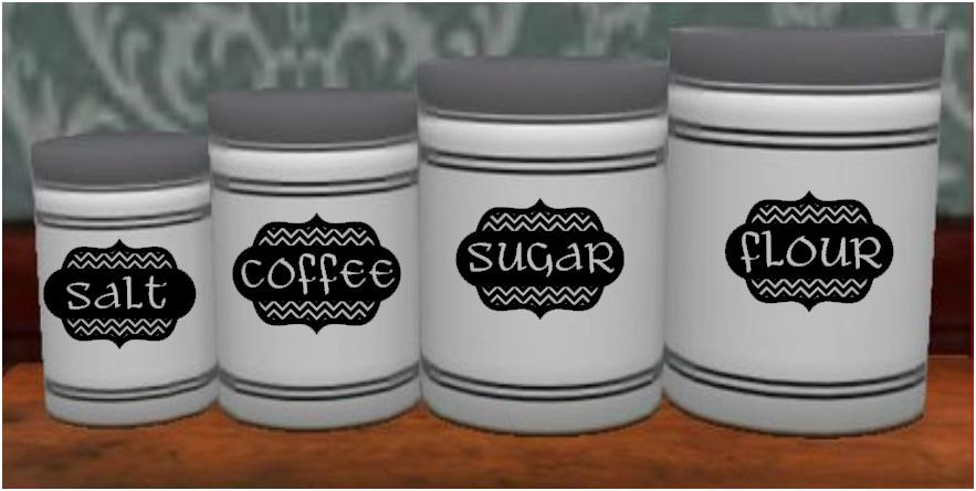 chevron kitchen canister labels