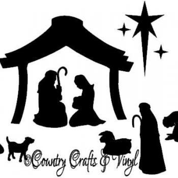 Christmas Nativity Vinyl Decal Small