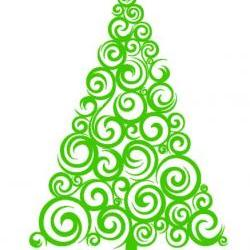 Christmas Tree Vinyl Decal