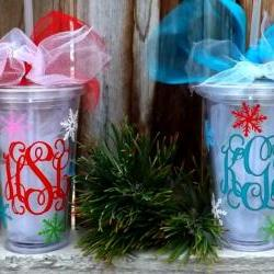 Holiday Personalized Acrylic Tumblers